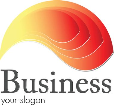 Logo, fire and flame orange - red ideal for your business logo.
