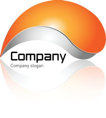 Logo - orange and grey with soft shadow - modern logo perfect for your business.