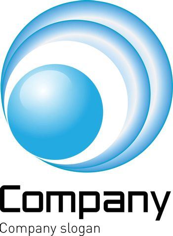 Logo - light blue, perfect for your businees or company.