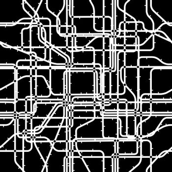 Seamless editable vector tile of a network with nodes