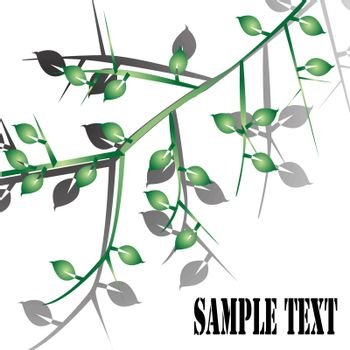Abstract foliage with sample text
