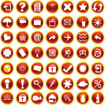 Web and internet icons set on white background