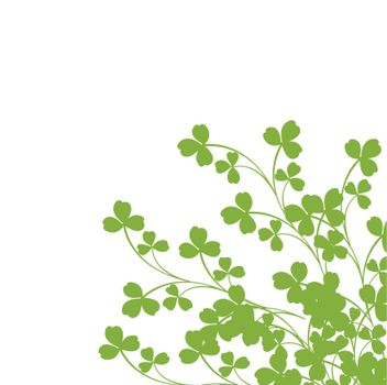 Green foliage over white background-clip art
