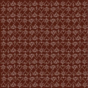brown wallpaper with leaves