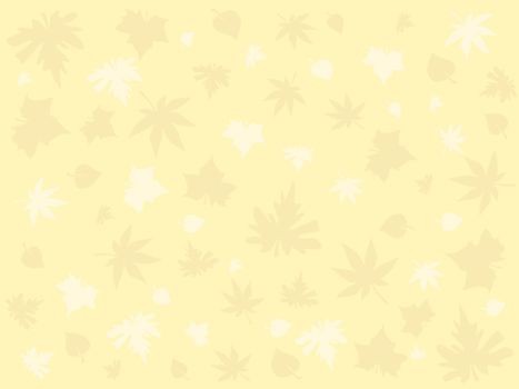 yellow wallpaper with autumn leaves