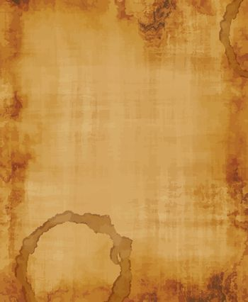 a large image of old and worn fabric or paper with coffee stain