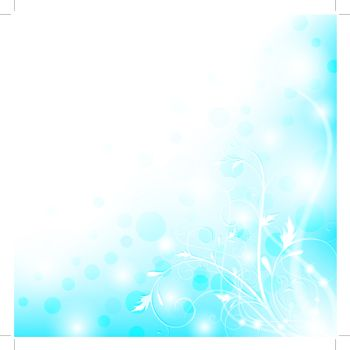 Abstract floral shiny background with copyspace, EPS10