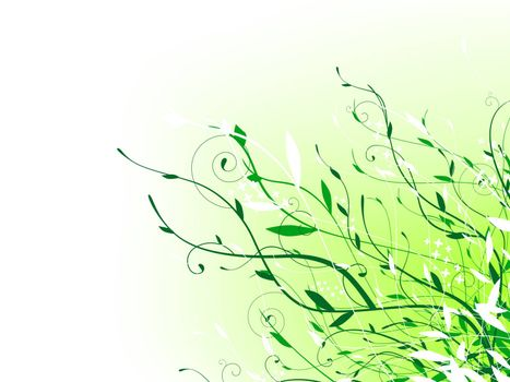 green floral vitality decoration with copyspace for your text