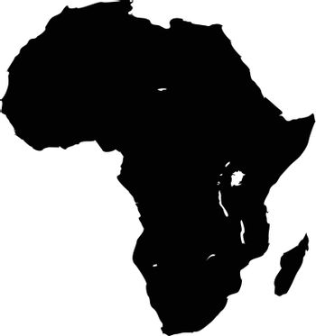 An outline of the African continent