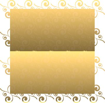 Golden leaf seamless repeating design with a gradient effect
