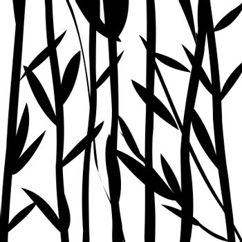 Background foliage with willow leaves