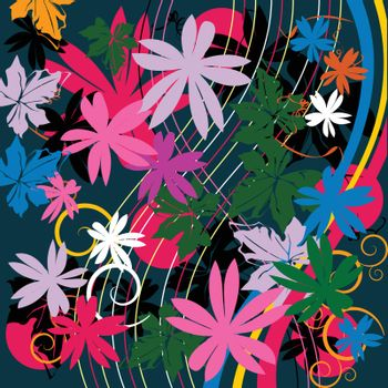 Floral composition, abstract art