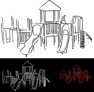 An image of children's playground equipment.