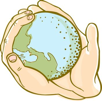 An image representing protecting the planet.