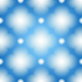 Editable vector seamless tile of a halftone pattern