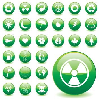 vector set of environmental icons