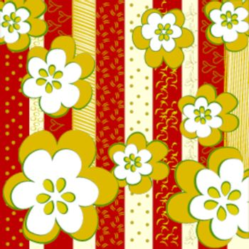 Background with floral motives for your collection