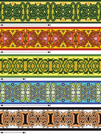 Elements of design in Celtic style in a vector