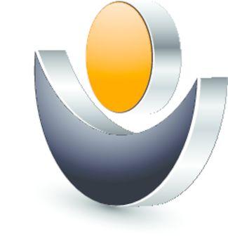 Logo, 3d abstract design  human shape.
