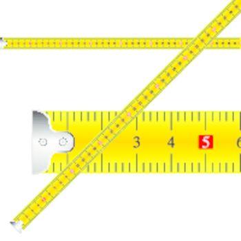measuring tape vector against white background, abstract vector art illustration