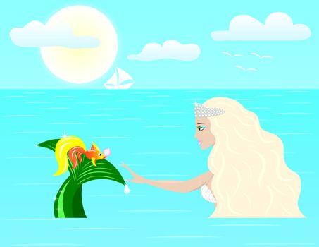 goldfish is a daryl a mermaid large pink zhumchuzhinu