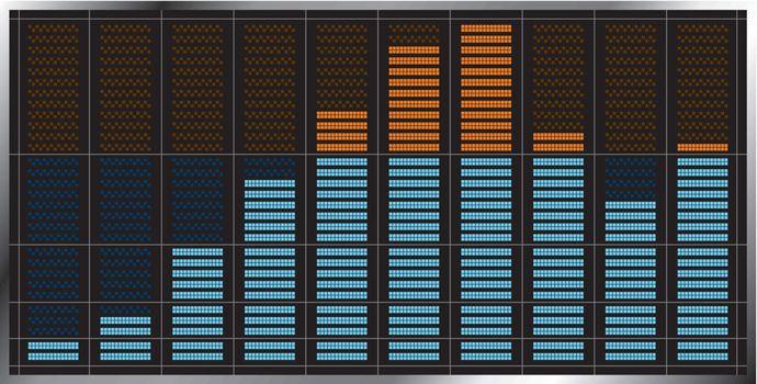Indicator of musical equalizer. Vector illustration.