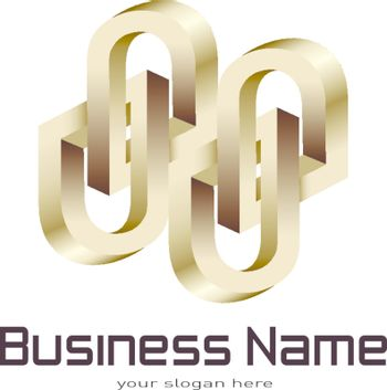 Business logo, impossible object.