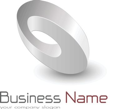 Logo business ellipse, impossible vector object.