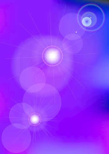 Abstract Background - Blurred Circles on Violet Background