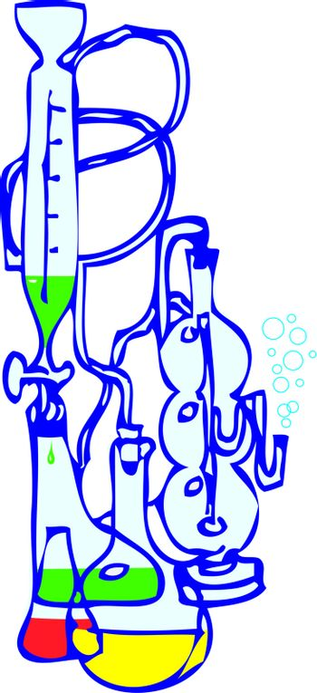 Equipment for the chemical laboratory. Vector illustration