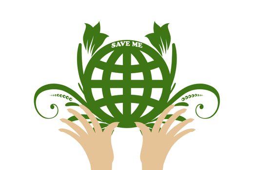 Beautiful symbol of environmental protection
