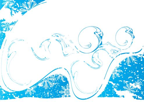 Icy background with place for your text, vector illustration