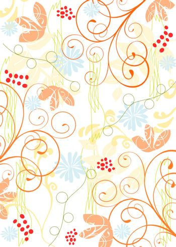 Style decoration background with ornaments