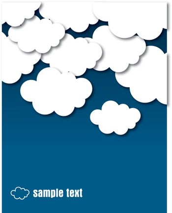 vector clouds - eps10 - vector illustration