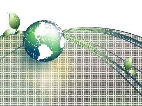 environmental vector concept  with  globe. Eps10