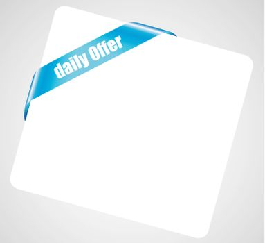 Blue Daily Free tag on a white paper