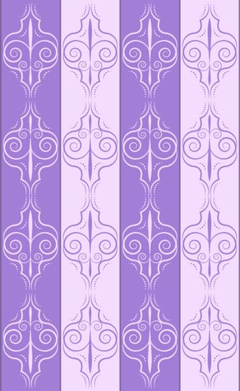 Vector violet and lilac wallpaper in floral motive
