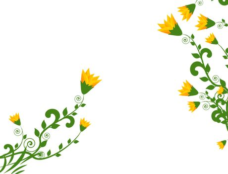 abstract flowers on white,background,vector illustration