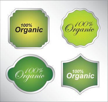 Organic seal over white background vector illustration