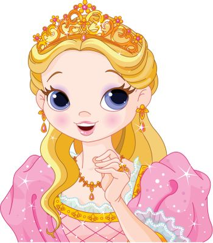 Illustration of beautiful fairytale princess