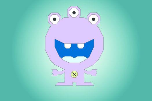 The violet alien, toy