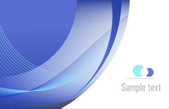 Blue vector template