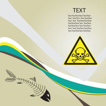 Background toxic danger with a toxic symbol of danger. vector illustration.