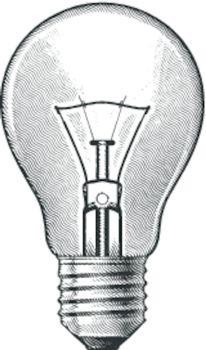 Figure bulbs. Illustration on white background.