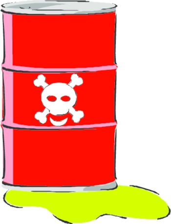Drum with toxic waste