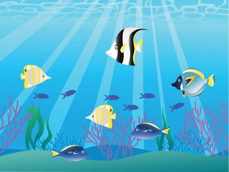 Vector illustration of beautiful fish