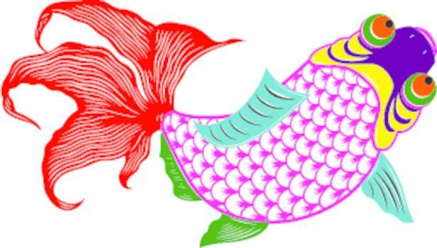 oriental fish illustration