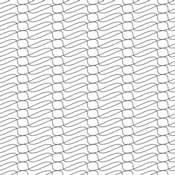 Black and white simple wave geometric seamless pattern. Repeating texture. Vector illustration.