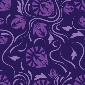 Floral pattern with flowers and leaves  Fantasy flowers Abstract Floral geometric fantasy