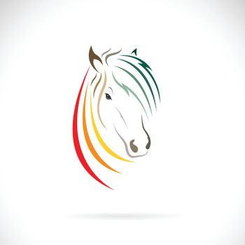 Vector of horse head  design on white background. Easy editable layered vector illustration. Wild Animals.